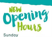 Changes to the Sundays we open